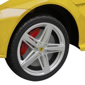 """Mașinuță electrică Ferrari F12"""" galbenă 6 V cu telecomandă"""""""