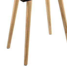 Masuta Vera cu sertar, 60 x 40 x 29,5 cm, PAL, 10Kg, patrata, negru