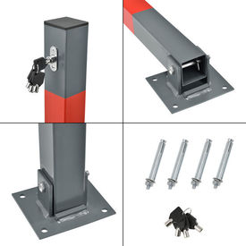 [neu.haus]® Blocator metalic pentru locul de parcare, 65 cm, otel galvanizat