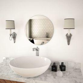 Oglindă de perete, 40 cm, sticlă, rotundă