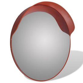 Oglindă rutieră plastic PC convexă de exterior 60 cm portocaliu