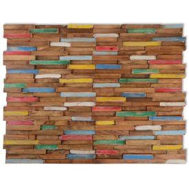 Panouri placare pereți, 10 buc., 1m², lemn de tec