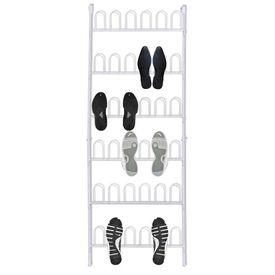 Pantofar 18 perechi pantofi, din oțel, alb, 2 buc.