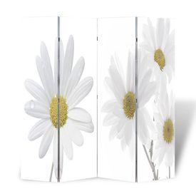 Paravan despărțitor cu imprimeu floral, 160 x 180