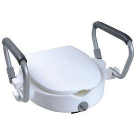 Parcura Scaun toaletă înalt cu brațe, 120 kg, alb 84841