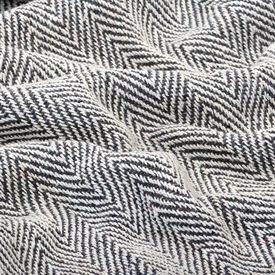 Pătură decorativă model spic, bumbac, 220 x 250 cm, bleumarin