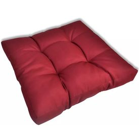 Pernă scaun 60 x 60 x 10 cm, Roșu
