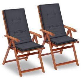 Perne pentru scaun de grădină, 2 buc, antracit, 120x50x3 cm