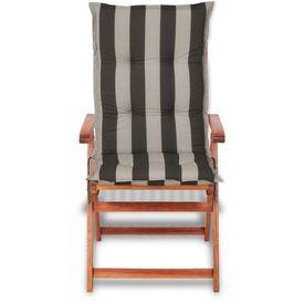 Perne pentru scaune de grădină 120x52 cm, dungi negre, 2 buc.