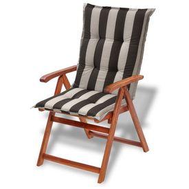 Perne pentru scaune de grădină 120x52cm, negru în dungi, 4 buc.