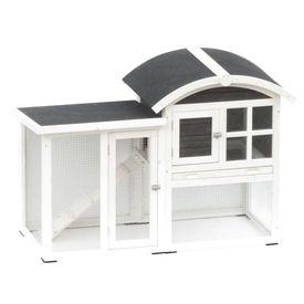 @Pet Cușcă iepuri Piazza, alb și negru, 130 x 62 x 90,5 cm 20085