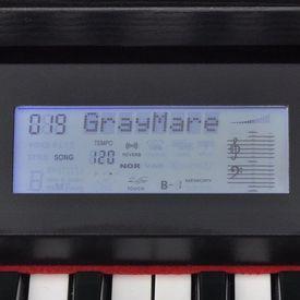 Pian digital cu 88 de clape, cu pedale, placă melamină, negru