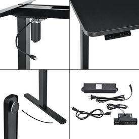 Picioare electrice pentru masa ABLD-4101, 116/187 cm, otel, negru
