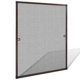 Plasă de insecte pentru ferestre, maro, 80 x 100 cm