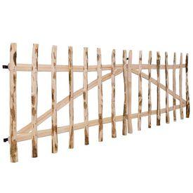 Poartă dublă de gard, lemn de alun, 300 x 100 cm