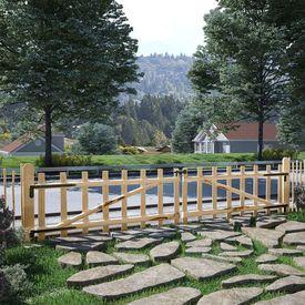 Poartă dublă de gard, lemn de alun, 300 x 60 cm