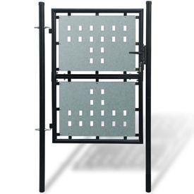 Poartă pentru gard simplă, negru, 100 x 250 cm