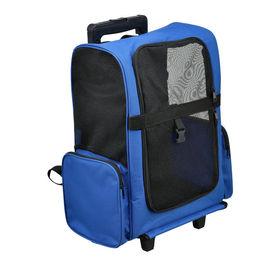 [pro.tec]® 2 in 1 rucsac si geanta transport pe roti (troler) pentru animalele mici , albastru regal