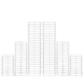 [pro.tec]® Gabion coloana - set 6 bucati cos piatra gri/argintiu