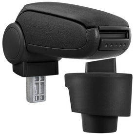 [pro.tec] Marca specifica pentru cotiera auto Seat Ibiza 6J - cotiera auto - cu compartiment pentru depozitare - tesatura - negru