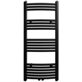 Radiator port-prosop încălzire baie, curbat, 500 x 1160 mm, negru