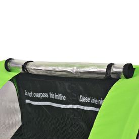 Remorcă de bicicletă pentru copii, gri și verde, 30 kg