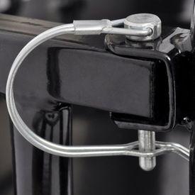Remorcă de marfă pentru bicicletă negru 50 kg