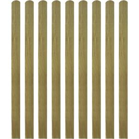 Scândură de gard din lemn tratat, 10 buc, 140 cm