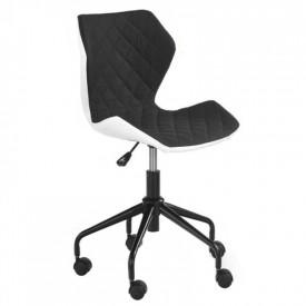 Scaun birou copii HM Matrix alb - negru