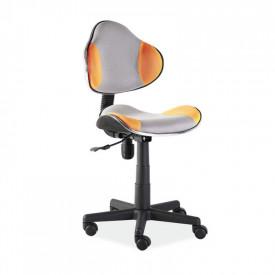 Scaun birou copii mesh SL QG2 portocaliu - gri