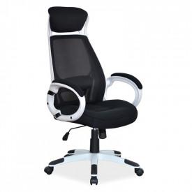 Scaun directorial mesh SL Q409 alb - negru