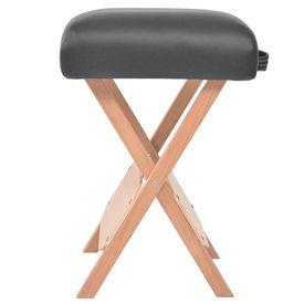 Scaun masaj pliabil cu șezut gros de 12 cm, negru