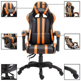 Scaun pentru jocuri, portocaliu, PU