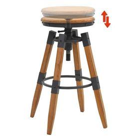 Scaune de bar reglabile 2 buc. lemn masiv brad 53,5x53,5x79cm
