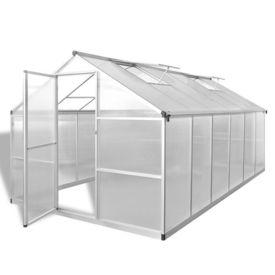 Seră din aluminiu ranforsat cu cadru de bază, 9,025 m²