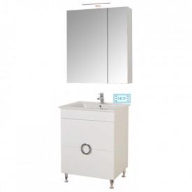Set Baza, lavoar baie GN0811 cu sertare si oglinda Celine - 60 cm alb
