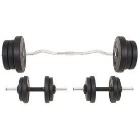 Set de haltere și gantere, 60 kg