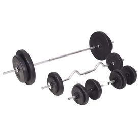 Set de haltere și gantere 90 kg