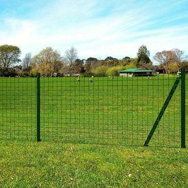 Set euro gard cu pivoți în pământ 25 x 0,8 m, oțel, verde