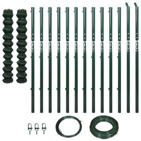 Set gard sârmă cu stâlpi, verde, 1,97 x 25 m
