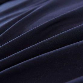 Set husă pilotă, 2 piese, negru, 140 x 200 / 60 x 70 cm