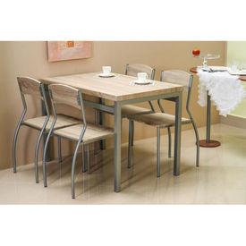 Set masa cu 4 scaune SL Astro stejar sonoma