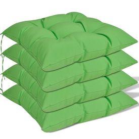 Set perne de scaun, 4 buc, 40 x 40 x 8 cm, verde