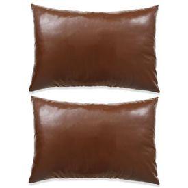 Set perne decorative 2 buc. Poliuretan 40x60 cm Maro