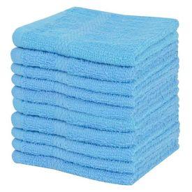 Set prosoape oaspeți 10 buc bumbac 360 g/m², 30x30 cm, albastru