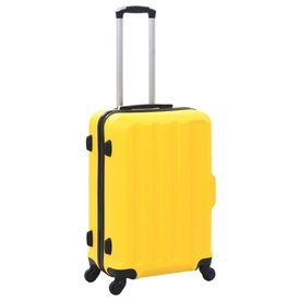 Set valize carcasă rigidă, 3 buc., galben, ABS