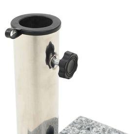 Suport umbrelă de soare, granit 10 kg, curbat, gri