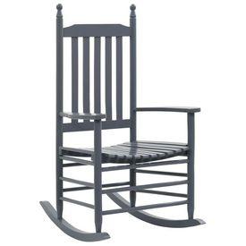 vidaXL Balansoar cu șezut curbat, gri, lemn