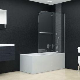 vidaXL Cabină de duș pliabilă, 2 panouri, 120 x 140 cm, ESG
