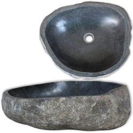 vidaXL Chiuvetă din piatră de râu